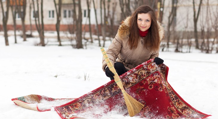 чистка зимой